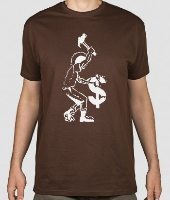 Camiseta punk anticapitalista