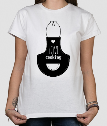 T-shirt Avental Love Cooking