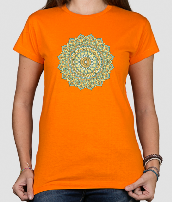 Camiseta flor Boho color