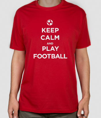 T-shirt texte Keep calm and play football