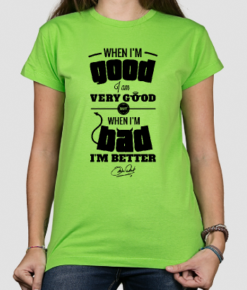 T-shirt scritta good bad Mae West