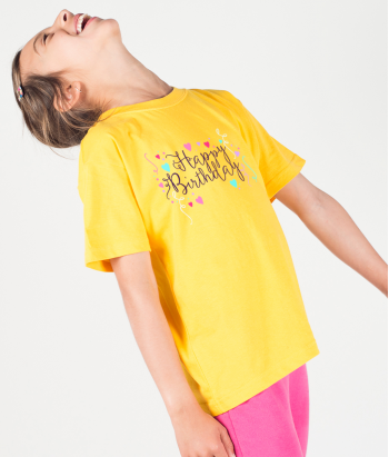 Camiseta fechas especiales Happy Birthday