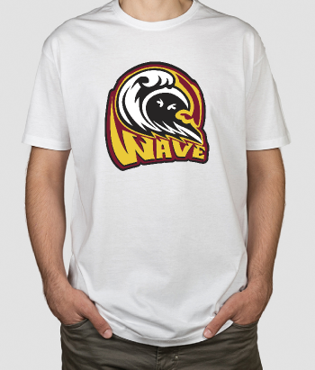 T-shirt surf big wave