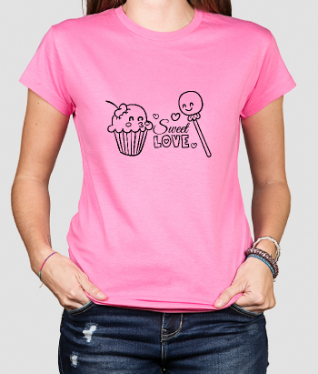 T-shirt kinderen lolly en cake love