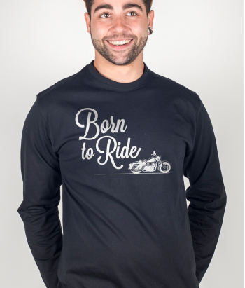 T-shirt frase Born To Ride