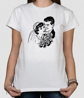 Retro Vintage Wedding T-Shirt
