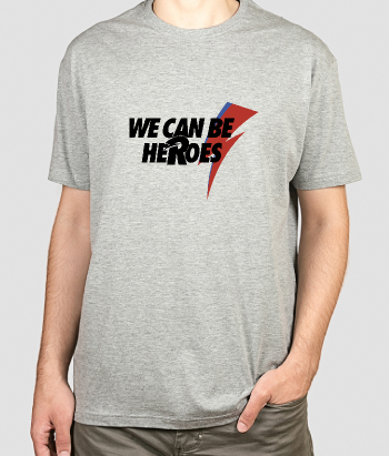 Camisola We can be heroes bowie