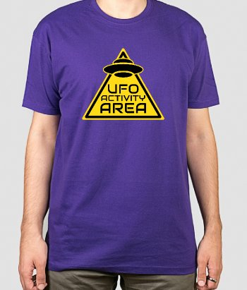T-shirt geek ufo activity area