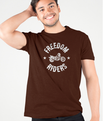 T shirt moto Freedom Riders