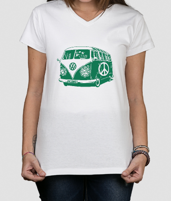 Camiseta retro hippie van