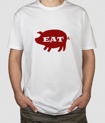 T-shirt humor eat maiale