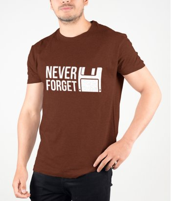 T-shirt geek disquette never forget