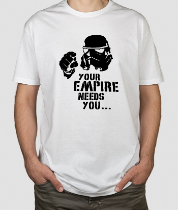 Camiseta friki empire needs you