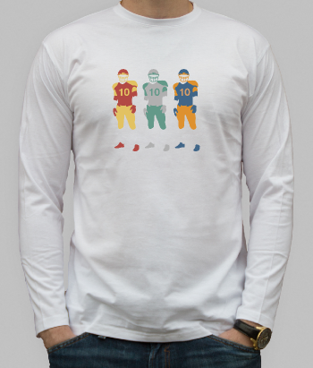T-shirt football spelers