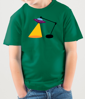 Camiseta divertida Lámpara Ovni