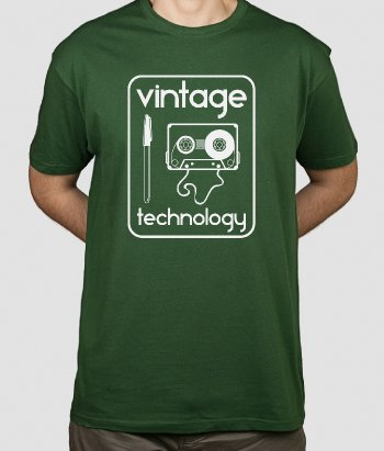 T-shirt Retro vintage technology