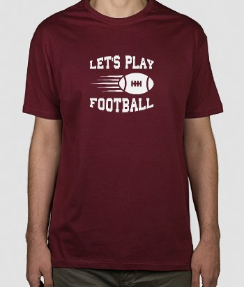 T-Shirt Sport American Football Lets play