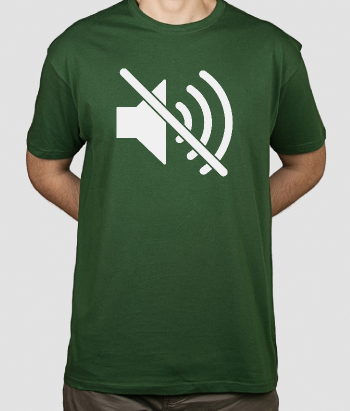 Camiseta icono silencio Apple