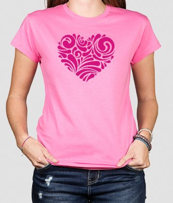 T-Shirt Herz Ornament