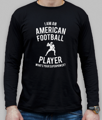 T-shirt American Football Player