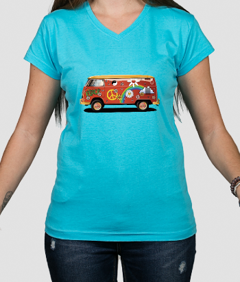 T-Shirt VW Bus Hippie