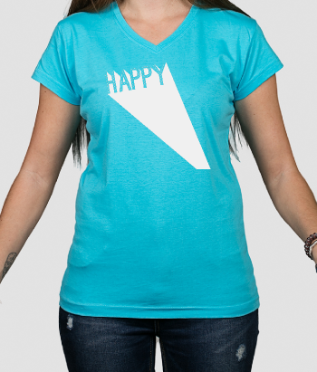 T-shirt Happy 3D tekst