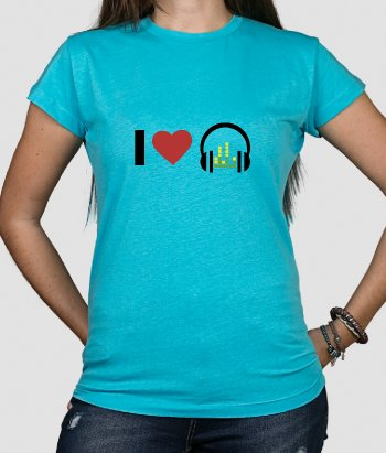 Camiseta música Love headphones