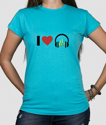 T shirt musica Love Headphones