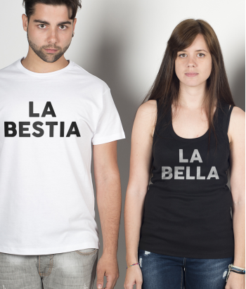 Camiseta duo Bella y bestia