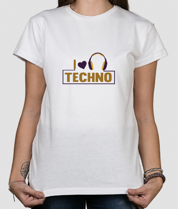 T-Shirt Musik I love Techno