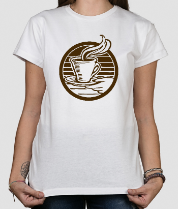 Camiseta retro taza de cafe