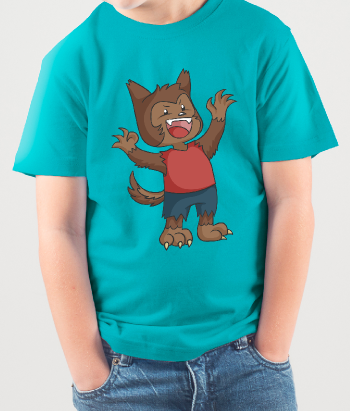 Kinder T-Shirt Werwolf