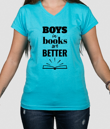 T-Shirt Frauen Boys in books