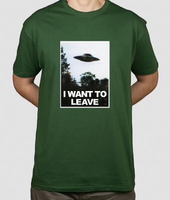 T-shirt UFO I want to leave