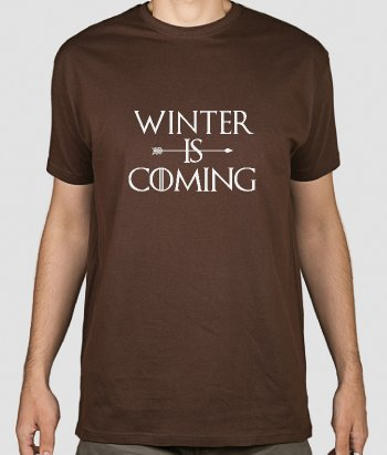 T-shirt serie tv Winter is coming
