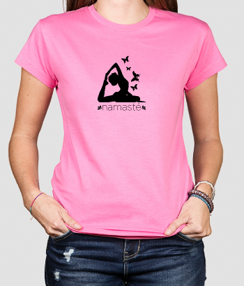 T-Shirt Frauen Yoga Namaste