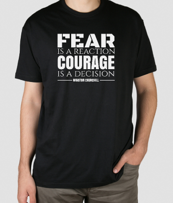 T-shirt quote Churchill