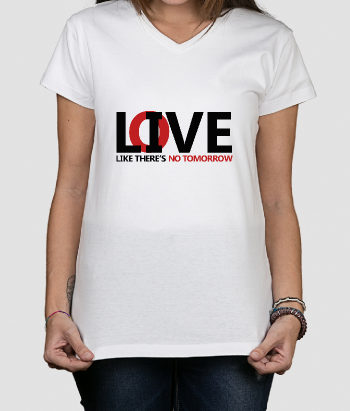 T-shirt tekst live and love