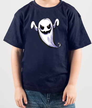 T-shirt halloween fantasma