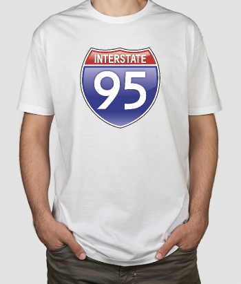 T-shirt logo Interstate 95