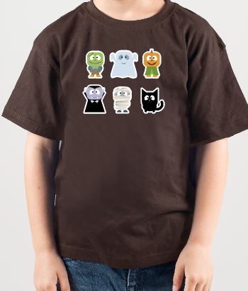 Kinder T-Shirt Halloween Monster