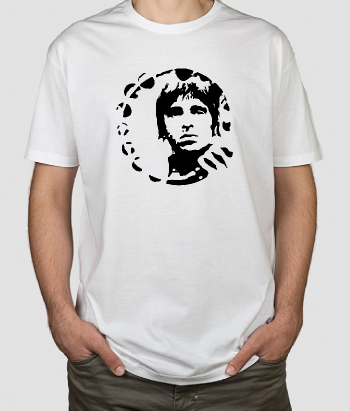 T-shirt musica ritratto Noel Gallagher