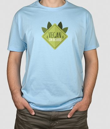 T-shirt vegan on board