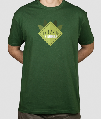 Camiseta divertida Vegano a bordo