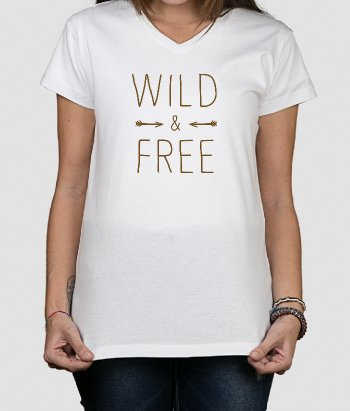 T-shirt wild and free flèches