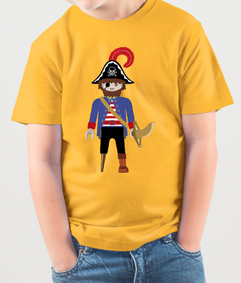 Camiseta dibujo playmobil pirata