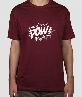 T-shirt cartoon Pow!