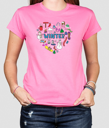 T-Shirt Winter Herz