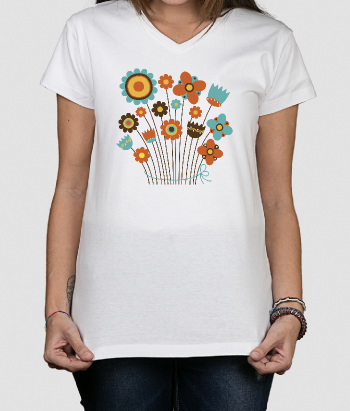 T-Shirt Illustration Blumenstrauß