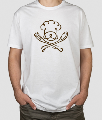 T-shirt con logo chef